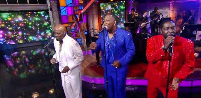 the o'jays love train stephen colbert