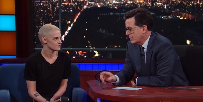 Kristen Stewart's Blonde Buzz Cut is Gorgeous and Trump is a Fool (Video)