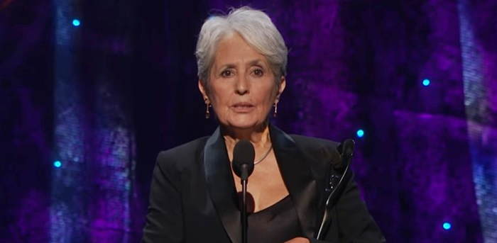 Joan Baez inducted into the Rock and Roll Hall of Fame