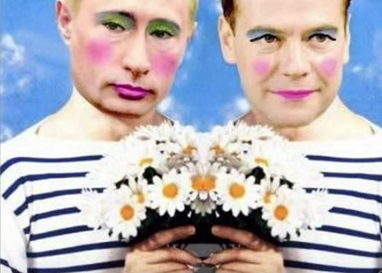 Putin as a gay clown