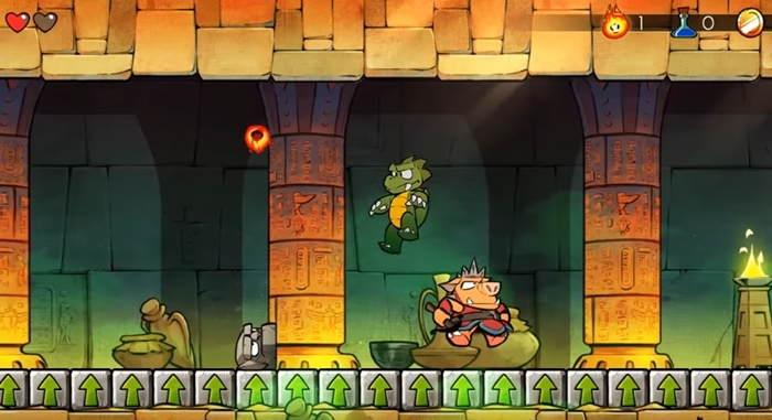 Wonder Boy: The Dragon's Trap's art style