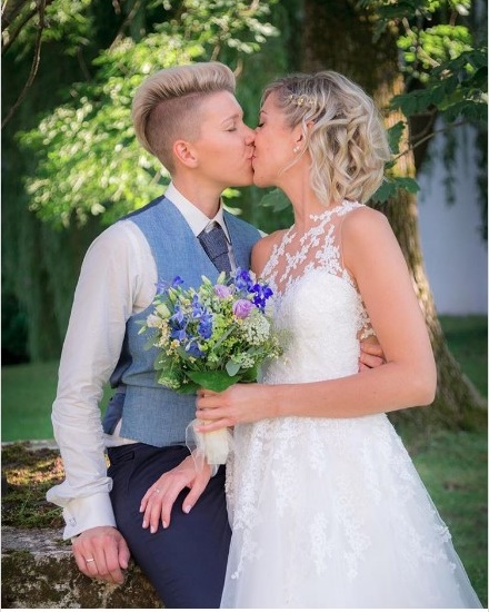 Austrian singer Virginia Ernst marries love of her life