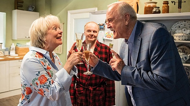Watch Hold The Sunset trailer with John Cleese and Alison Stedman, Cleese's first sitcom since Fawlty Towers