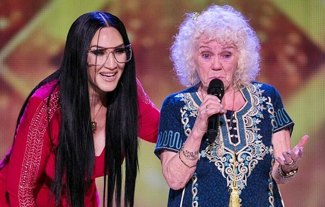 Michelle Visage chooses 81-year-old Evelyn Williams for her Golden Buzzer, then gives a lovely speech