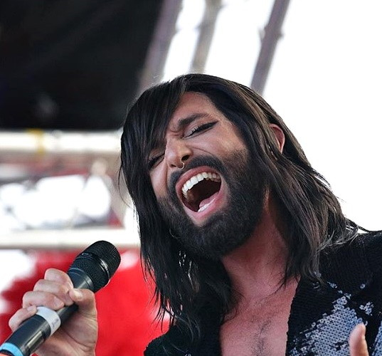 Conchita stylish at Isle of Wight Pride and, man, is that girl the most gorgeous thing