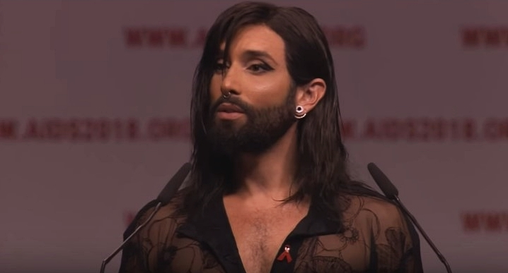 Conchita at International AIDS Conference asks for people with HIV to be treated just like everyone else
