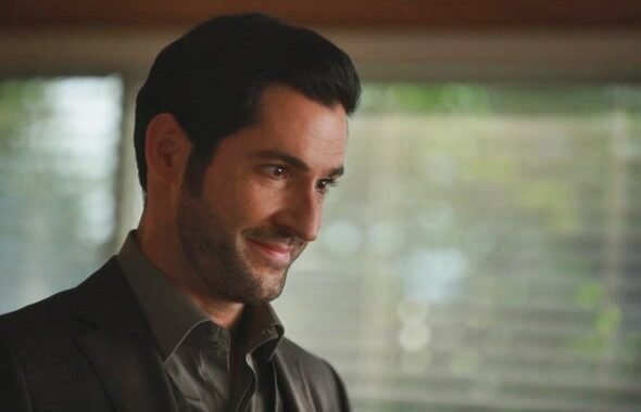 screenshot from Lucifer Season 4 of Lucifer smiling