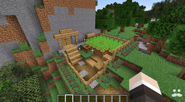 How to make a Minecraft starter base in 1.14 that looks cool too
