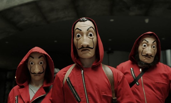 "Listen to Men at Work's 'Who Can It Be Now' from Money Heist, Season 3, Episode 2, ""Aikido"""
