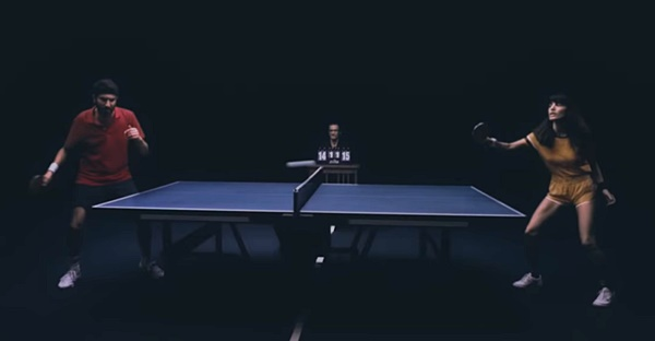 Lola Marsh's 'Only For A Moment' video — duo play ping pong in time to the beat