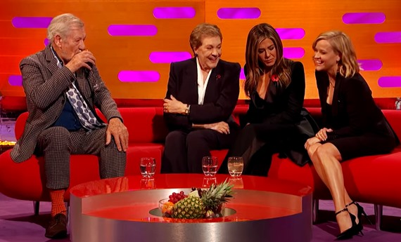 Jennifer Aniston, Reese Witherspoon and Julie Andrews tell Graham Norton what they took from sets