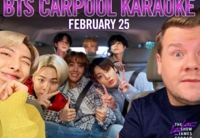 BTS 'Carpool Karaoke' airs on James Corden February 25 – Bantang Boys singing along to own hits